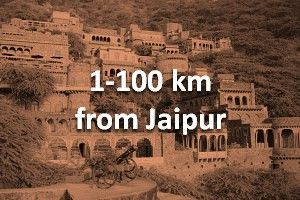 100 km from jaipur