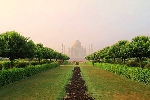 View of Taj Mahal from Mehtab Bagh Agra