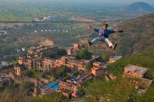 Neemrana Fort rope activity
