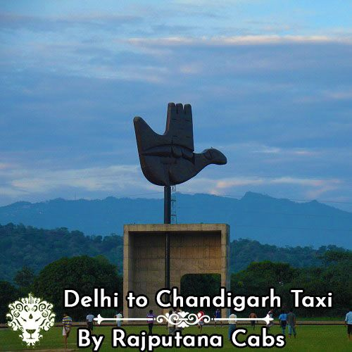 Delhi to Chandigarh taxi from Rajputana Cabs